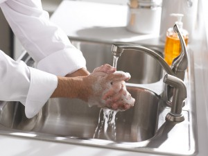 image of hands washing Courtesy of USDA/Flickr Creative Commons